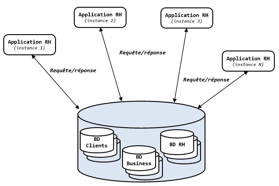 Couplage entre les applications et les données dans une architecture non-SOA