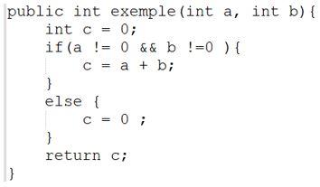 code d'une instruction conditionnelle